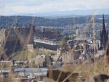 Edinburgh Castle from Salisbury Crags