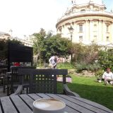 Relaxing coffee in Radcliffe Square