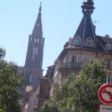 Cathédrale Notre Dame de Strasbourg as seen from a distance