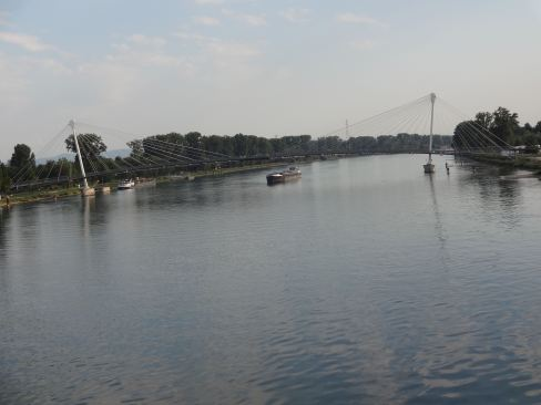 The Rhine - Germany on the left, France on the right