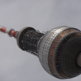 Close up of the Berlin Fernsehturm